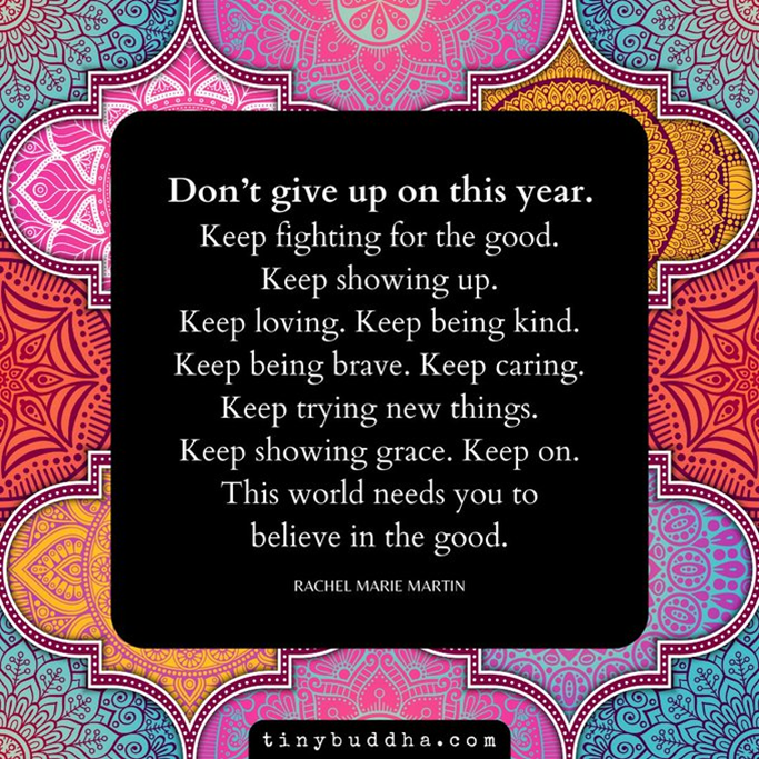 Don't Give up on this year poem